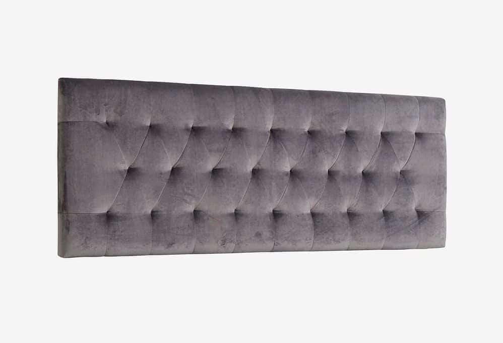 Væghængt sengegavl i velour - 180cm