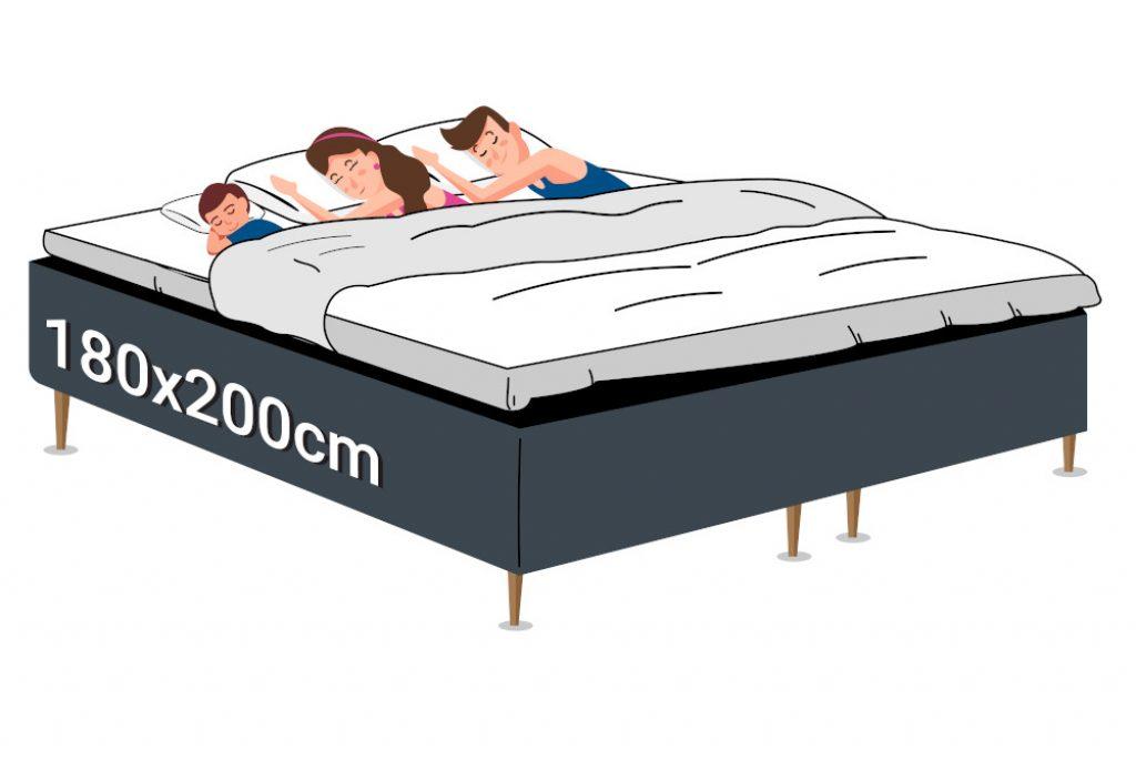 Kontinentalseng 180x200cm